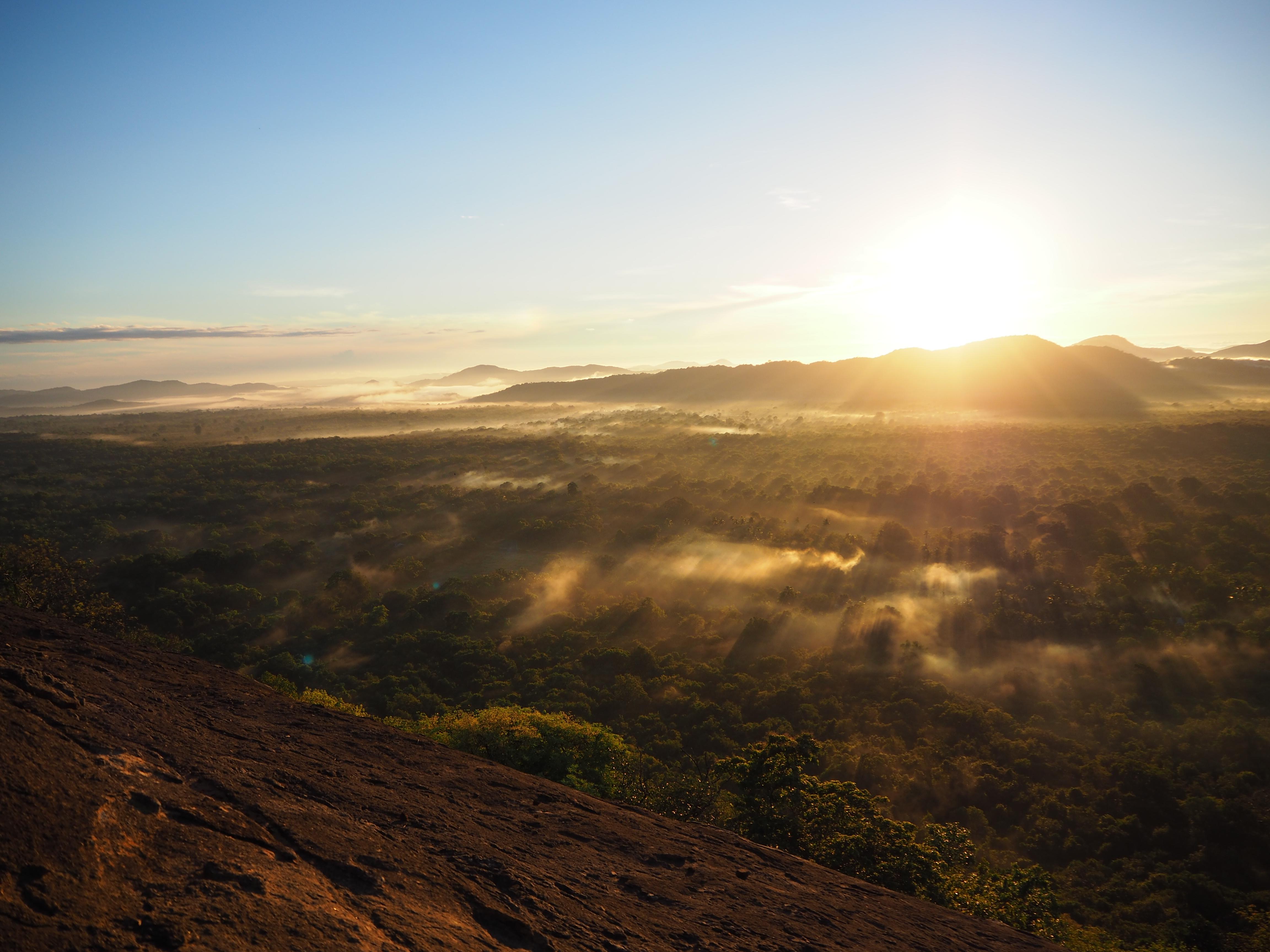 Sri lank zonsondergang